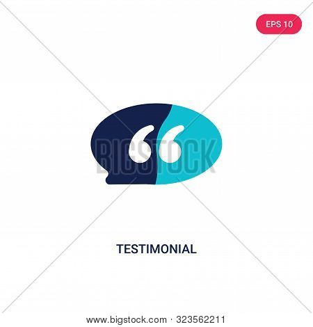 testimonial icon in two color design style.