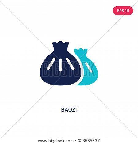 baozi icon in two color design style.