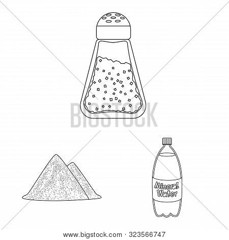 Isolated Object Of Sodium And Mineral Icon. Collection Of Sodium And Kitchen Vector Icon For Stock.