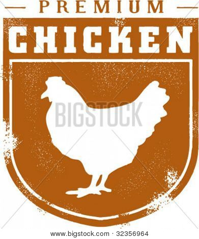 Vintage Style Premium Chicken Graphic