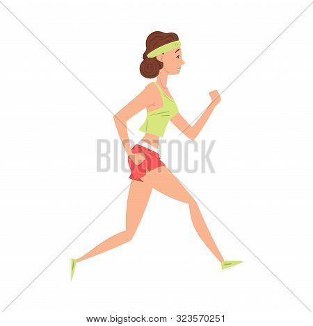 Young Woman Doing Morning Workout, Girl Running In Sports Uniform, Woman In Everyday Life, Daily Rou