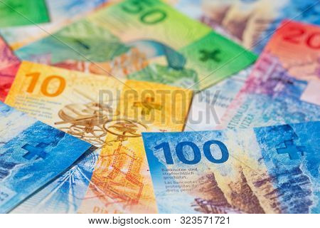 Collection of the new swiss banknotes (issued in 2019)