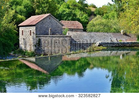 An Old Grain Mill On The Grab River Near The Town Of Sinj In Croatia/ Old Grain Mill On The Amazing