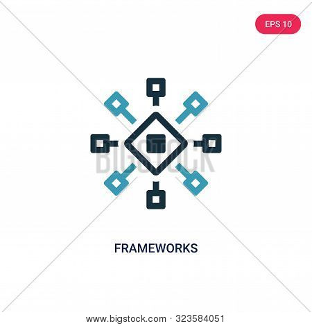 frameworks icon in two color design style.