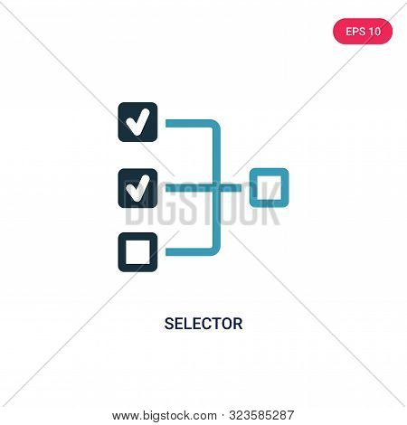 selector icon in two color design style.