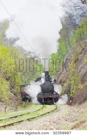 steam locomotive (126.014), Resavica, Serbia