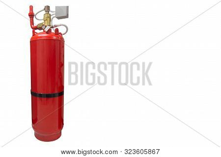 Fm-200 Suppression Systems, Fm200 Gas Flooding System, Gas Suppression System Isolated White Backgro
