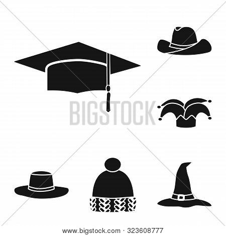 Vector Illustration Of Beanie And Beret Symbol. Collection Of Beanie And Napper Stock Vector Illustr