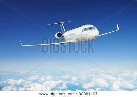 Private Airplane in the sky at day