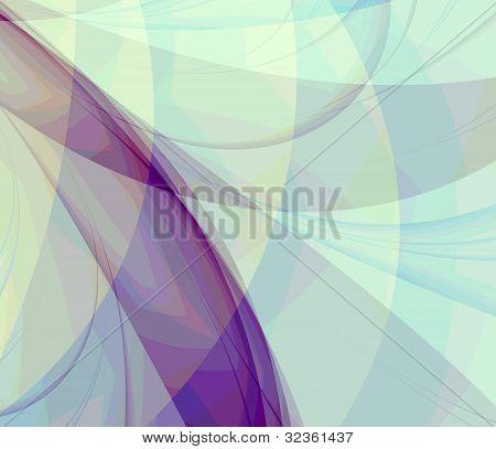 Purple Swirls Fractal