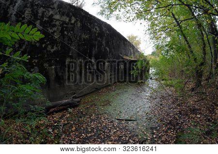 Old tunnel of Stalin. Part of Kiev defense line in WW2 time.Kiev poster