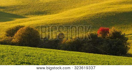 Detail Of A Rural Landscape Of Turiec Region In Northern Slovakia.