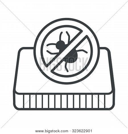 Orthopedic Mattress, Anti-bacterial Or Anti-allergic Material, Crossed Bug