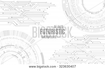 Hi-tech Computer Digital Technology Concept. Abstract Technology Communication Vector Illustration.