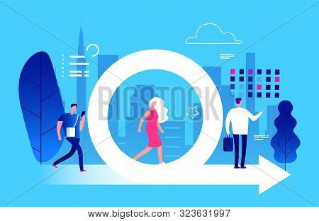 Agile Management Vector. Business And Life Effective Planning Strategy Illustration. Development Met