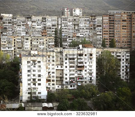 Post Soviet Blocks Of Flats. Post Soviet Architecture.