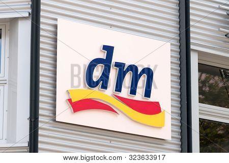Wolfsburg, Germany - June 8, 2019: Logo Of Dm-drogerie Markt. Dm-drogerie Markt Is A Chain Of Retail