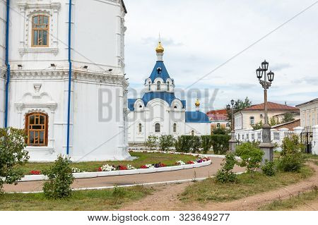 Ulan Ude, Russia - September 06, 2019: Cathedral Of Our Lady Of Smolensk Or Odigitrievsky Cathedral