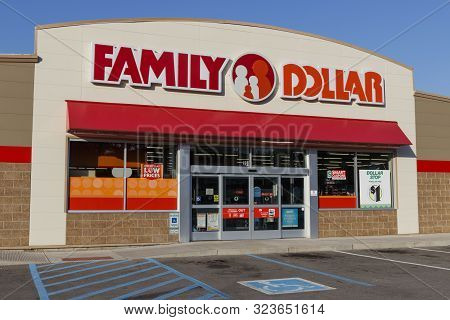 Marion - Circa September 2019: Family Dollar Variety Store. Family Dollar Is A Subsidiary Of Dollar