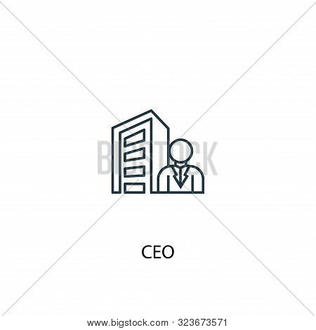 Ceo Concept Line Icon. Simple Element Illustration. Ceo Concept Outline Symbol Design. Can Be Used F