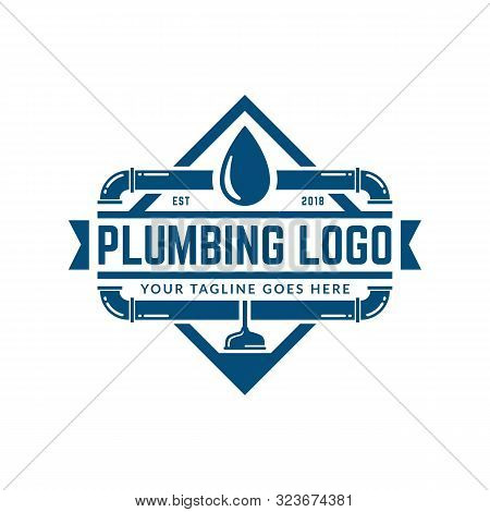 Plumbing Logo Template, Easy To Customize