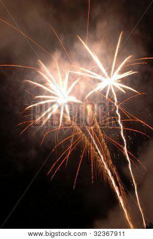Fireworks Bursting In Air