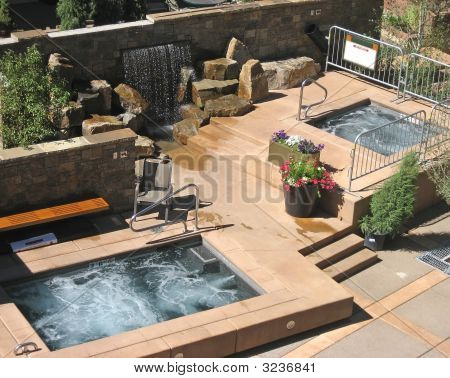 Patio With Hot Tubs