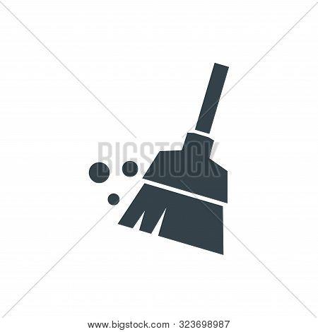 Broom Concept Logotype Template Design. Business Logo Icon Shape. Broom Simple Illustration