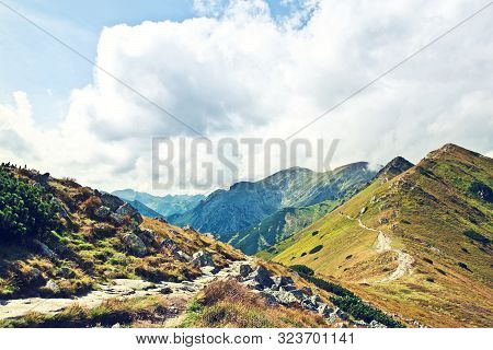 Autumn In The Mountains Landscape. Tatry, Poland.