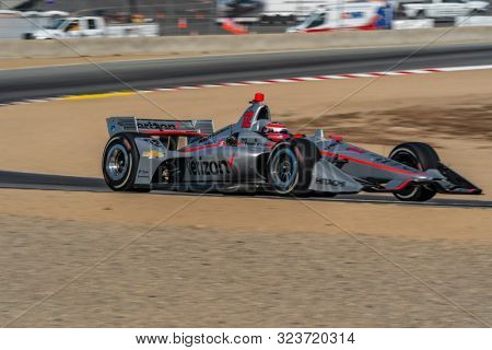 September 21, 2019 - Salinas, California, USA: WILL POWER (12) of Toowoomba, Australia  practices for the Firestone Grand Prix of Monterey at Weathertech Raceway Laguna Seca in Salinas, California.