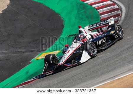 September 20, 2019 - Salinas, California, USA: JOSEF NEWGARDEN (2) of the United States  practices for the Firestone Grand Prix of Monterey at Weathertech Raceway Laguna Seca in Salinas, California.