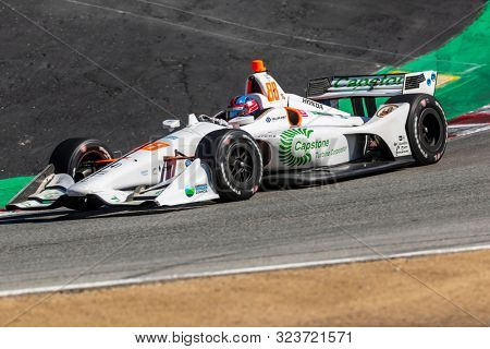 September 20, 2019 - Salinas, California, USA: COLTON HERTA (88) (R) of The United States  practices for the Firestone Grand Prix of Monterey at Weathertech Raceway Laguna Seca in Salinas, California.