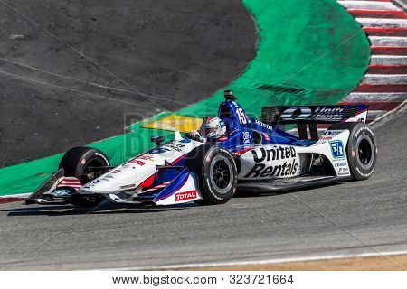 September 20, 2019 - Salinas, California, USA: GRAHAM RAHAL (15) of the United States  practices for the Firestone Grand Prix of Monterey at Weathertech Raceway Laguna Seca in Salinas, California.