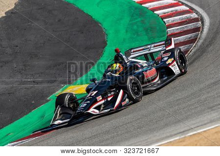 September 20, 2019 - Salinas, California, USA: SPENCER PIGOT (21) of the United States  practices for the Firestone Grand Prix of Monterey at Weathertech Raceway Laguna Seca in Salinas, California.