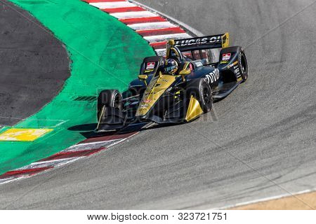 September 20, 2019 - Salinas, California, USA: CONOR DALY (7) of the United States  practices for the Firestone Grand Prix of Monterey at Weathertech Raceway Laguna Seca in Salinas, California.