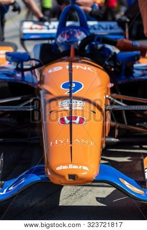 September 20, 2019 - Salinas, California, USA: SCOTT DIXON (9) of Auckland, New Zealand  practices for the Firestone Grand Prix of Monterey at Weathertech Raceway Laguna Seca in Salinas, California.