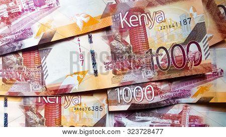 Nairobi, Kenya - September 18: 1000 Bank Notes Of Kenya In Flat Lay Taken On September 18, 2019 In N