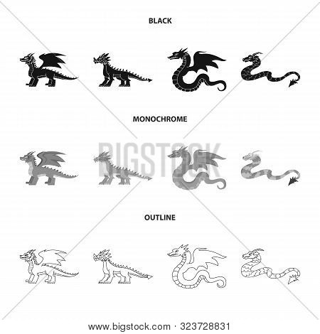 Isolated Object Of Legend And Halloween Icon. Set Of Legend And History Vector Icon For Stock.