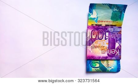 Nairobi, Kenya - September 18: 100 And 200 Bank Notes Of Kenya Isolated And On White Taken On Septem