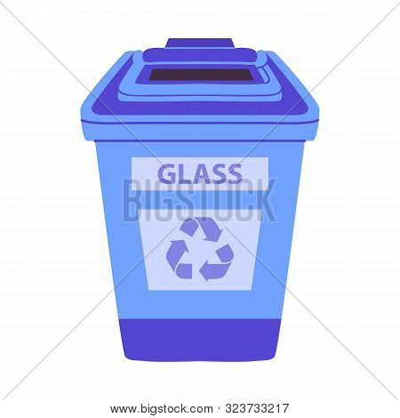 Vector Illustration Of Dustbin And Trash Icon. Graphic Of Dustbin And Glass Vector Icon For Stock.