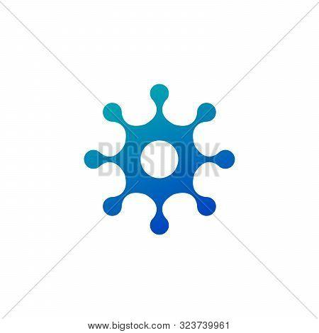 Molecule Nano Technology Lab Circle Logo Template. Unique Logo Design Concept. Creative Innovation B