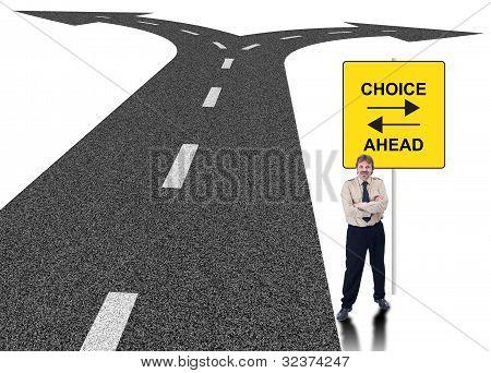 Business Choice Concept