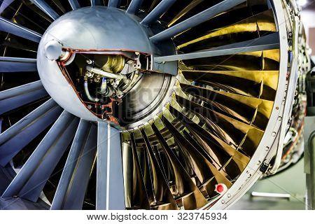 View Of Turbine Aircraft Close Up