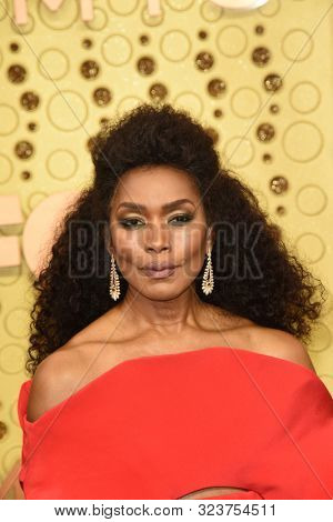 LOS ANGELES - SEP 22:  Angela Bassett at the Primetime Emmy Awards - Arrivals at the Microsoft Theater on September 22, 2019 in Los Angeles, CA