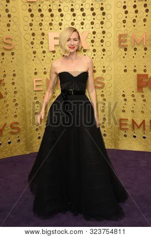 LOS ANGELES - SEP 22:  Naomi Watts at the Primetime Emmy Awards - Arrivals at the Microsoft Theater on September 22, 2019 in Los Angeles, CA