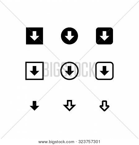 Arrow. Arrow Icon. Download Icon. Down Arrow Icon. Down Arrow Vector Icon. Down Arrow Isolated Icon.