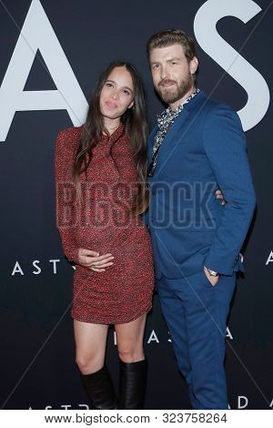 LOS ANGELES - SEP 18:  Chelsea Tyler, Jon Foster at the Ad Astra Premiere at the ArcLight Theater on September 18, 2019 in Los Angeles, CA
