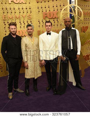 LOS ANGELES - SEP 22:  Antoni Porovski, Bobby Berk, Tan France, Karamo Brown at the Primetime Emmy Awards - Arrivals at the Microsoft Theater on September 22, 2019 in Los Angeles, CA