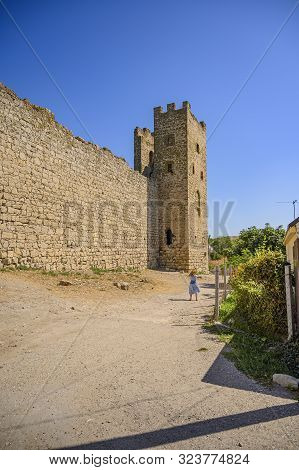 Feodosia, Crimea, Russia - September 11, 2019 Old Genoese Fortress.