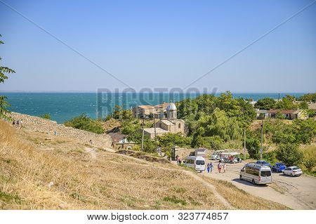 Feodosia, Crimea, Russia - September 11, 2019 Old Genoese Fortress. Surrounding Area.